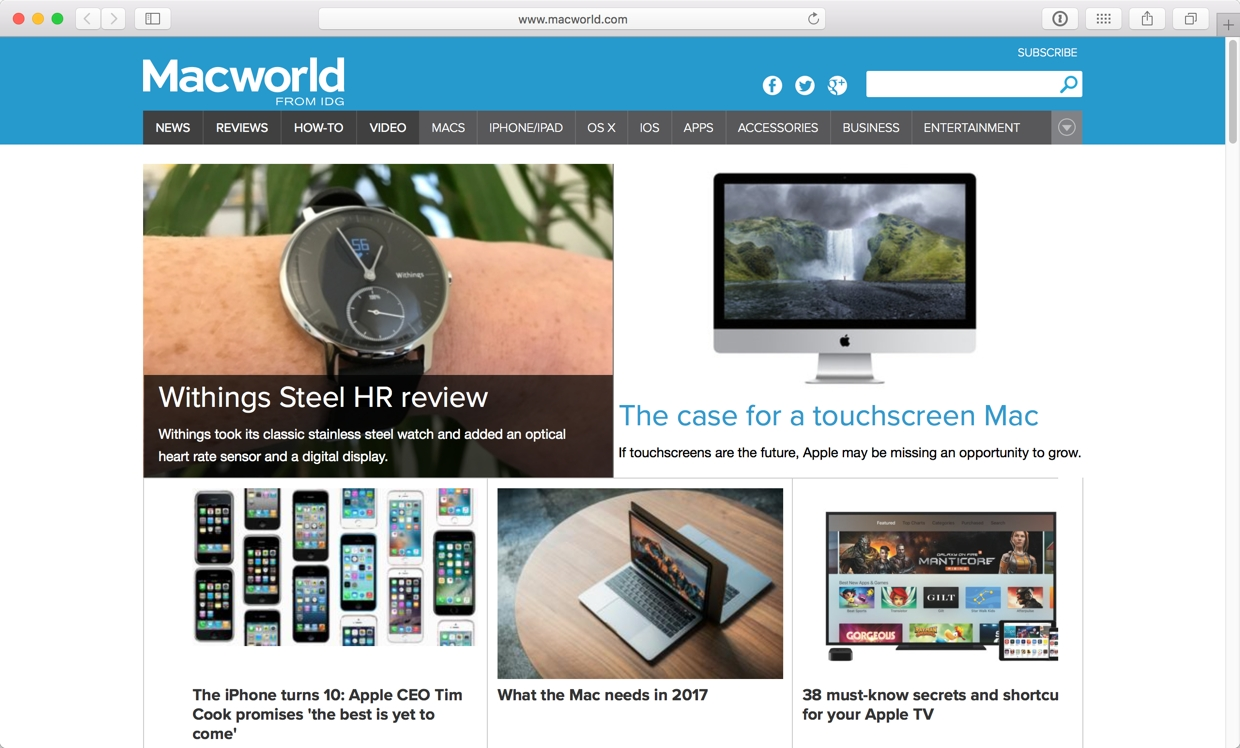 When Better is enabled on macworld.com, the ad below the navigation (and its tracking) is blocked